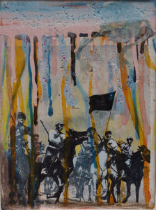 'ein gespennst geht um', 2014, mixed media, 24cm x 19,5cm