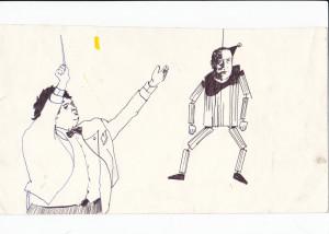 ohne titel, 2007, fineliner und kugelschreiber auf papier, 20cm x 32cm