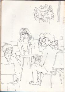 ohne titel, 2012, gelstift auf papier, 21cm x 14,8cm