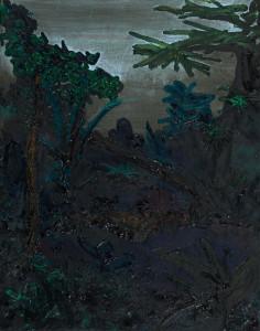 'dschungel', 2015, öl auf leinwand, 70cm x 50cm