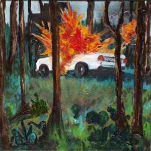'explosive mischung' 2015, öl auf leinwand
