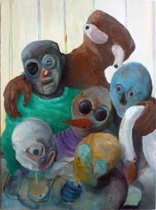 'familienbande', 2015, öl auf leinwand, 100cm x 70cm